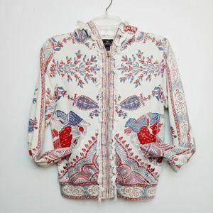 Lucky Brand Lotus Fringe Tassel Sweatshirt Hoodie